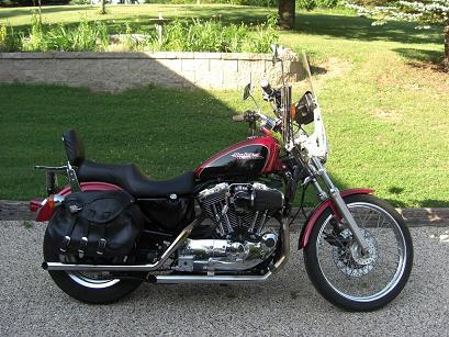 1998 harley davidson xl1200c sportster 1200 custom black red west bend wisconsin 87580. Black Bedroom Furniture Sets. Home Design Ideas