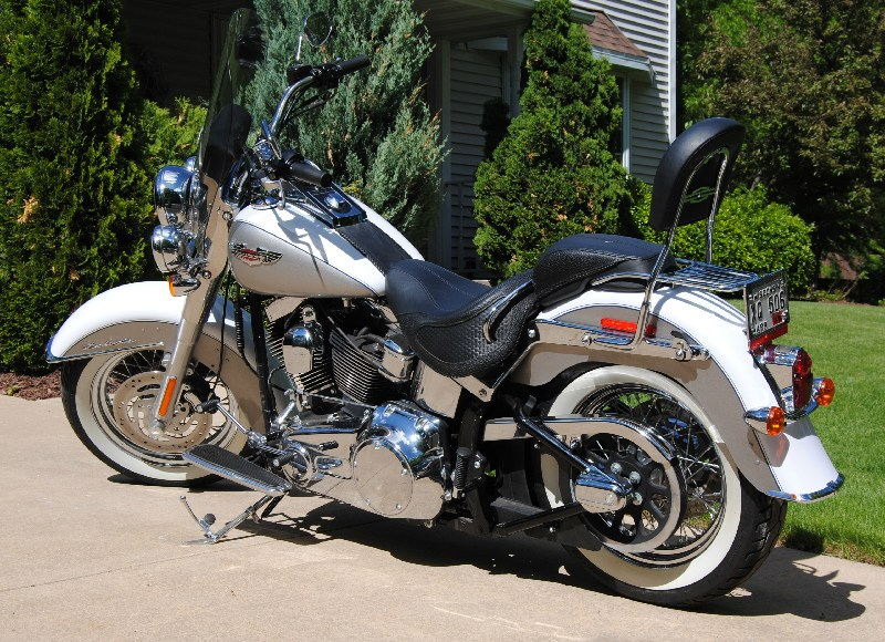 2008 Harley Davidson 174 Flstn Softail 174 Deluxe Pewter And