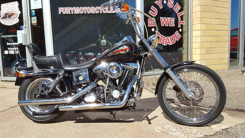1996 harley davidson fxdwg dyna wide glide vivid black. Black Bedroom Furniture Sets. Home Design Ideas